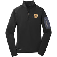 Pekingese Embroidered Eddie Bauer Ladies Half Zip Performance Fleece