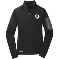 Saint Bernard Embroidered Eddie Bauer Ladies Half Zip Performance Fleece