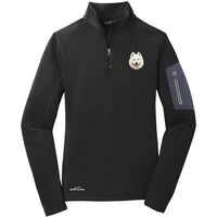 Samoyed Embroidered Eddie Bauer Ladies Half Zip Performance Fleece