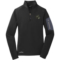 Scottish Terrier Embroidered Eddie Bauer Ladies Half Zip Performance Fleece