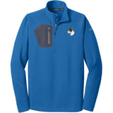 Embroidered Eddie Bauer Mens Half Zip Performance Fleece Cobalt Blue 2X-Large Bull Terrier D96