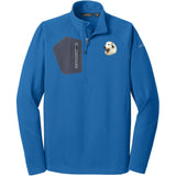 Embroidered Eddie Bauer Mens Half Zip Performance Fleece Cobalt Blue 2X-Large Great Pyrenees D27