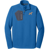 Embroidered Eddie Bauer Mens Half Zip Performance Fleece Cobalt Blue 2X-Large Lakeland Terrier DV320