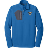 Embroidered Eddie Bauer Mens Half Zip Performance Fleece Cobalt Blue 2X-Large Pug DV252