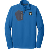 Embroidered Eddie Bauer Mens Half Zip Performance Fleece Cobalt Blue 2X-Large Saluki D76