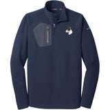 Embroidered Eddie Bauer Mens Half Zip Performance Fleece Navy 2X-Large Bull Terrier D96