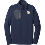 Embroidered Eddie Bauer Mens Half Zip Performance Fleece Navy 2X-Large Great Pyrenees D27