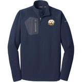 Embroidered Eddie Bauer Mens Half Zip Performance Fleece Navy 2X-Large Havanese DV372