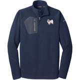 Embroidered Eddie Bauer Mens Half Zip Performance Fleece Navy 2X-Large Japanese Chin DV213