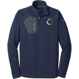 Embroidered Eddie Bauer Mens Half Zip Performance Fleece Navy 2X-Large Pug D63