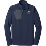 Embroidered Eddie Bauer Mens Half Zip Performance Fleece Navy 2X-Large Pug DV252