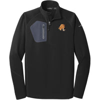 Airedale Terrier Embroidered Eddie Bauer Mens Half Zip Performance Fleece