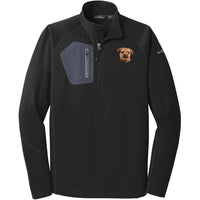 Border Terrier Embroidered Eddie Bauer Mens Half Zip Performance Fleece