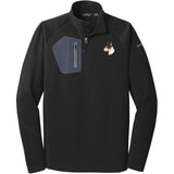 Embroidered Eddie Bauer Mens Half Zip Performance Fleece Black 2X-Large Bull Terrier D96