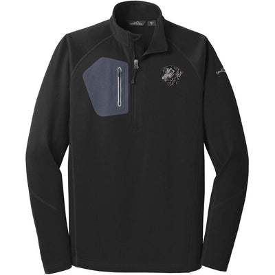 Curly Coated Retriever Embroidered Eddie Bauer Mens Half Zip Performance Fleece