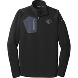 Embroidered Eddie Bauer Mens Half Zip Performance Fleece Black 2X-Large Flat Coated Retriever D53