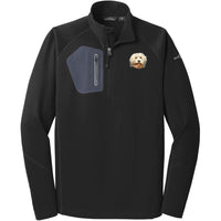 Havanese Embroidered Eddie Bauer Mens Half Zip Performance Fleece