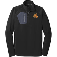 Irish Terrier Embroidered Eddie Bauer Mens Half Zip Performance Fleece