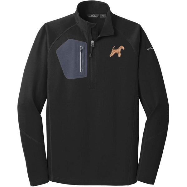 Embroidered Eddie Bauer Mens Half Zip Performance Fleece Black 2X-Large Lakeland Terrier DV320