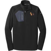 Norfolk Terrier Embroidered Eddie Bauer Mens Half Zip Performance Fleece