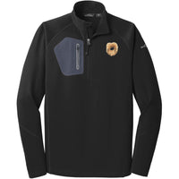 Pekingese Embroidered Eddie Bauer Mens Half Zip Performance Fleece