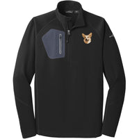 Pembroke Welsh Corgi Embroidered Eddie Bauer Mens Half Zip Performance Fleece