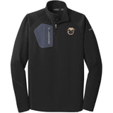 Embroidered Eddie Bauer Mens Half Zip Performance Fleece Black 2X-Large Pug DV252