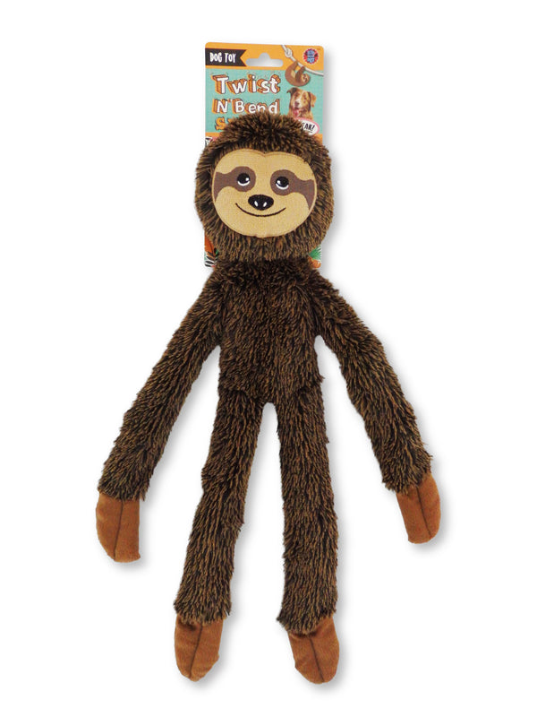 Sloth Dog Toy With Rope Arms and Legs