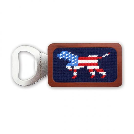 Patriotic Dog Bottle Opener