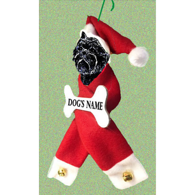Affenpinscher Santa Bone Ornament