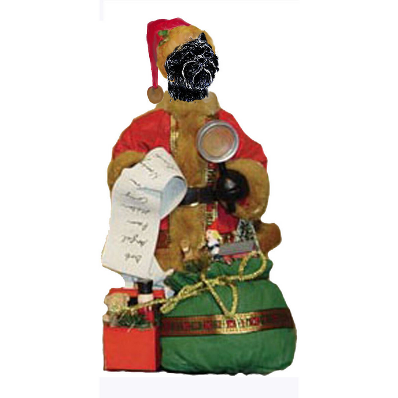 Affenpinscher Toy List Santa Statue