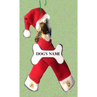 Afghan Hound Santa Bone Ornament
