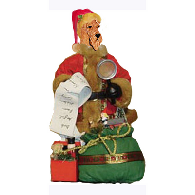 Airedale Terrier Toy List Santa Statue