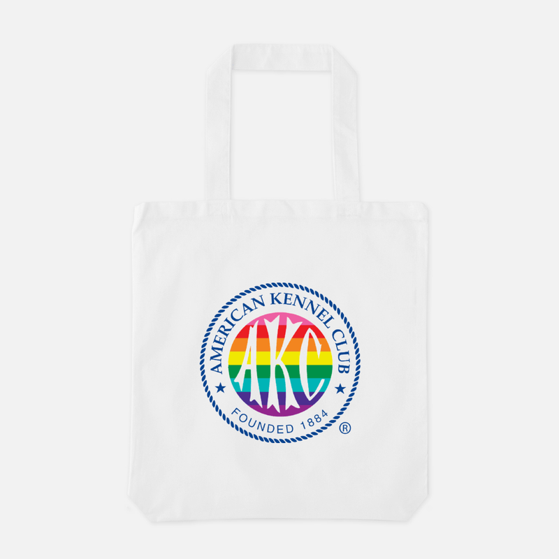 AKC Rainbow Logo Tote Bag