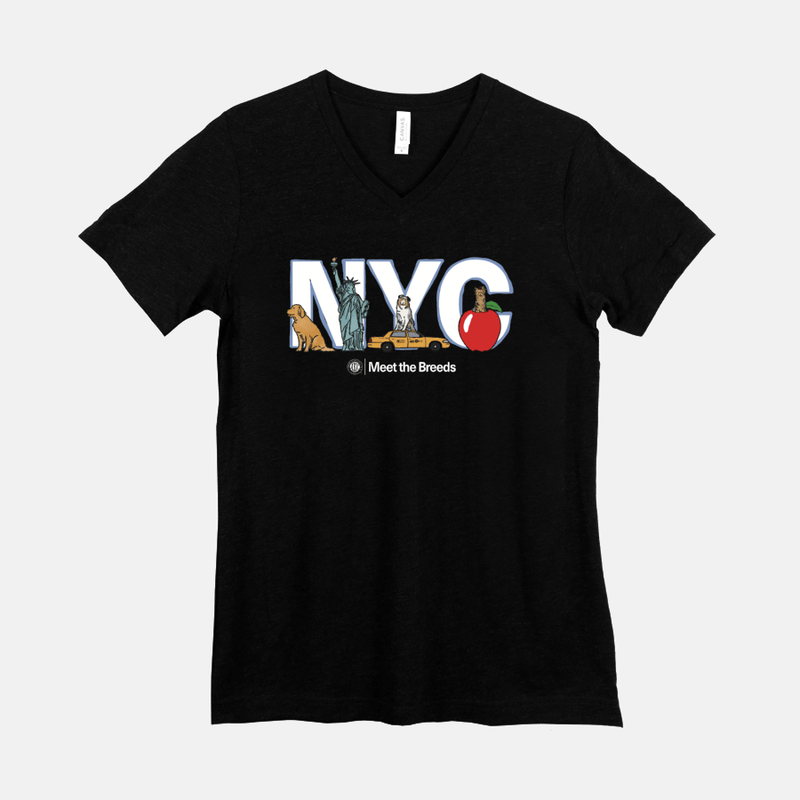"Meet The Breeds ""NYC"" V-Neck T-Shirt"