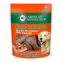 Chew N' Bones Bacon Flavored Dog Treats - 6 Pack