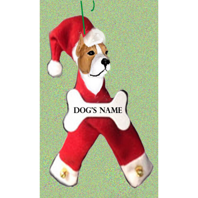 American Staffordshire Terrier Santa Bone Ornament