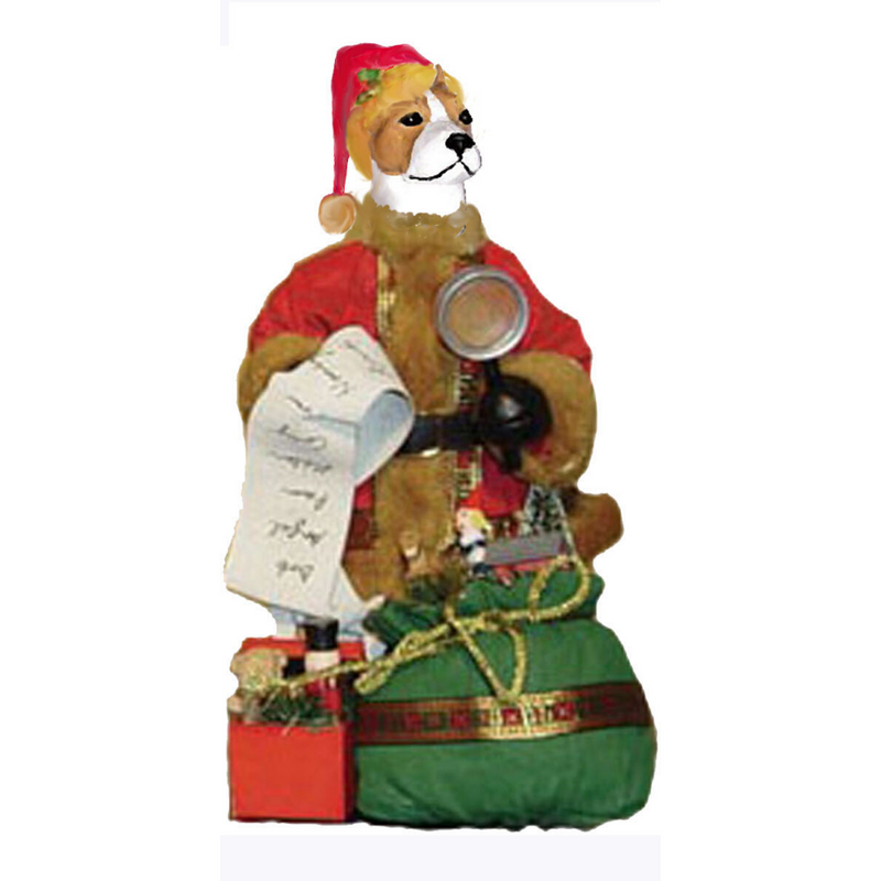 American Staffordshire Terrier Toy List Santa Statue