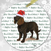 "American Water Spaniel ""Happy Howlidays"" Ornament"