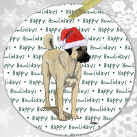 "Anatolian Shepherd Dog ""Happy Howlidays"" Ornament"