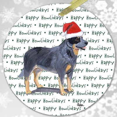 "Australian Cattle Dog ""Happy Howlidays"" Ornament"
