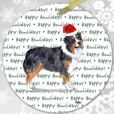 "Australian Shepherd ""Happy Howlidays"" Ornament"