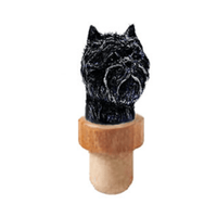 Affenpinscher Dog Head Cork Bottle Stopper