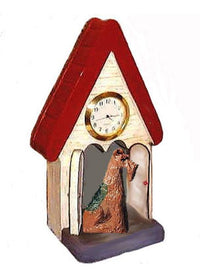 Airedale Terrier Figurine Clock