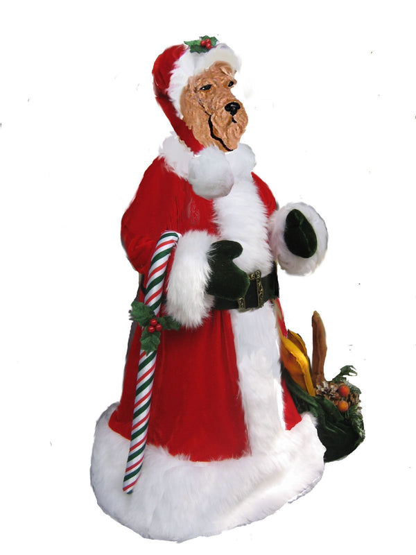 Airedale Terrier Large Santa Statue