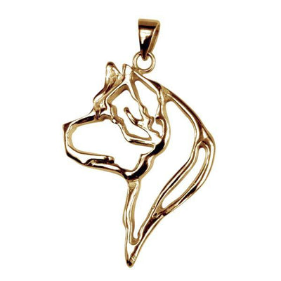 Akita 14K Gold Cut Out Pendant