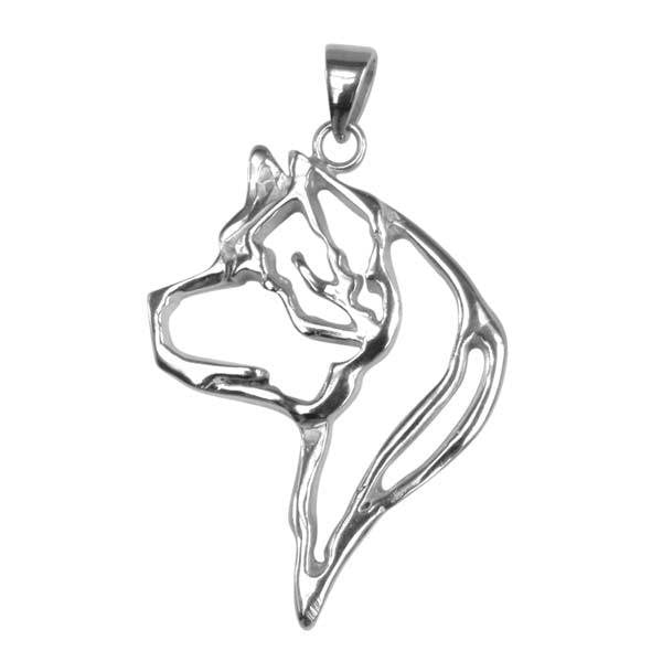 Akita Sterling Silver Cut Out Pendants