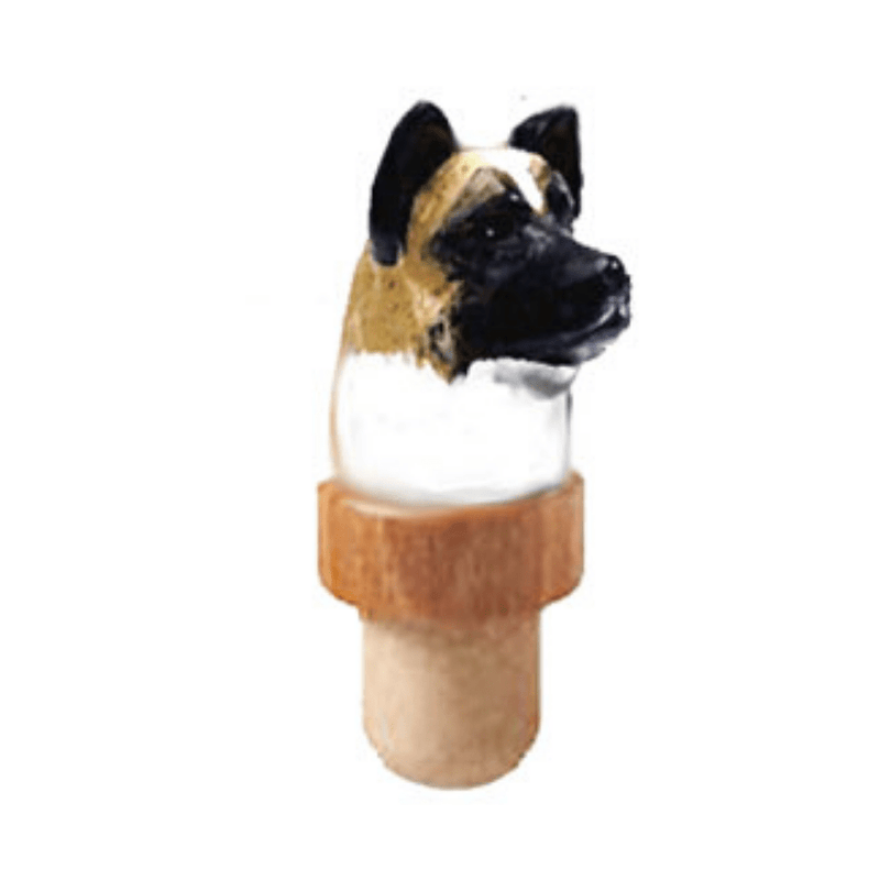 Akita Head Cork Bottle Stopper