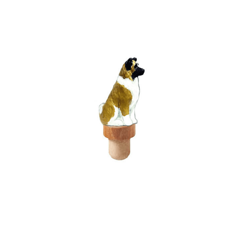 Akita Figurine Cork Bottle Stopper
