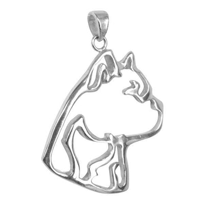 American Staffordshire Terrier Sterling Silver Cut Out Pendants